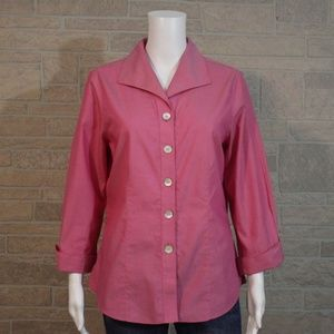 Foxcroft Non Iron Fitted Button Up Blouse Shirt